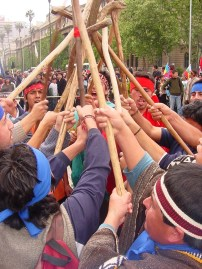 Mapuche Rally DownTownSantiago